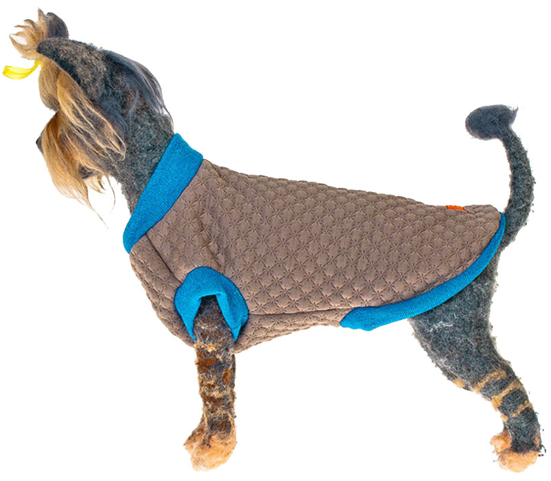 "Свитшот для собак ""Happy Puppy"", унисекс, цвет: бежевый. Размер XL"