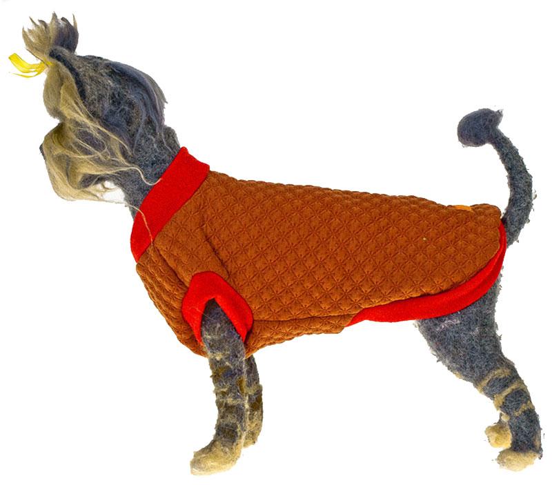 Свитшот для собак Happy Puppy, унисекс, цвет: терракотовый. Размер L