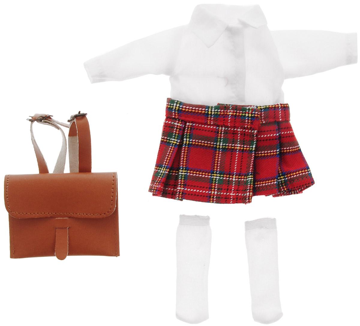 Vestida de Azul Комплект одежды для куклы Карлотты Школьница куклы и одежда для кукол vestida de azul оливия в розовом костюме 30 см