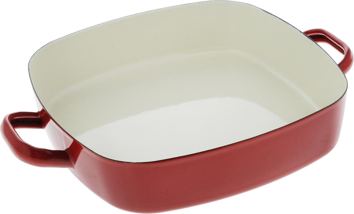 Сотейник эмалированный Metalac Posude Majestic, цвет: красный, 26 x 26 см166840Сотейник Metalac Posude Majestic изготовлен из стали с эмалированным покрытием. Стеклоэмаль инертна и устойчива к пищевым кислотам, не вступает во взаимодействие с продуктами и не искажает их вкус, не вызывает аллергию и надежно защищает пищу от контакта с металлом. Покрытие устойчиво к механическому воздействию, не царапается и не сходит, а стальная основа не подвержена механической деформации, благодаря чему, срок эксплуатации увеличивается. Изделие оснащено удобными ручками по бокам, также выполненными из стали.Подходит для всех видов плит, включая индукционные. Изделие можно мыть в посудомоечной машине.Размер сотейника (по верхнему краю): 26 х 26 см.Длина ручек: 4 см.Высота стенки: 6 см.Размер дна: 24 х 24 см.