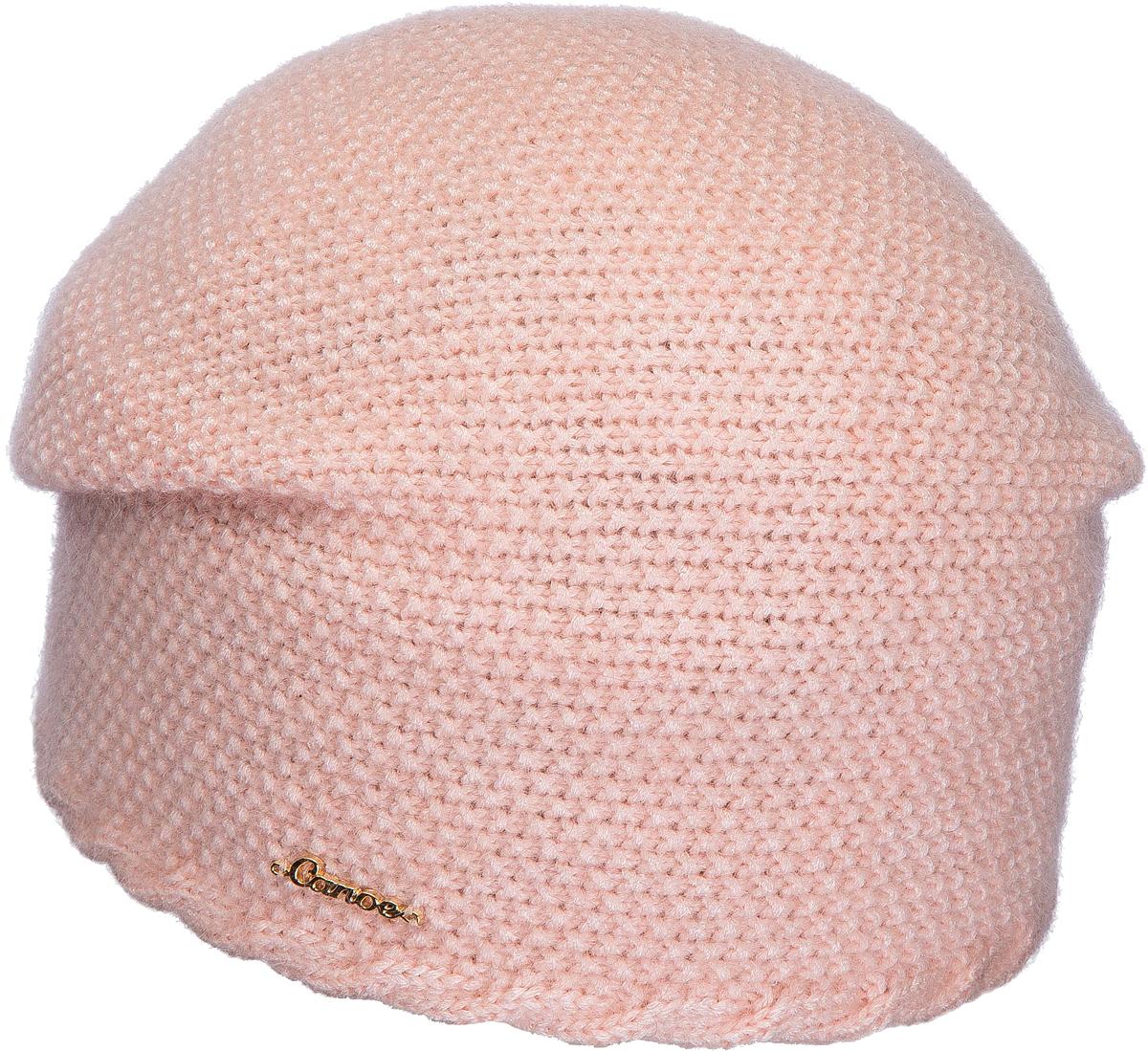 Шапка женская Canoe Lunita, цвет: светло-розовый. 3445952. Размер 56/58