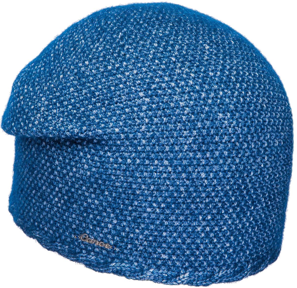 Шапка женская Canoe Lunita, цвет: синий. 3445954. Размер 56/583445954Элегантная женская шапочка из итальянского суперкид мохера вывязана рисом, украшена горизонтальной косой по краю изделия. Пряжа произведена по современной технологии 3D tube, где в полиэстеровую сетчатую нано-трубочку вдувают вискозу и пух суперкид мохера. Это придаёт изделию невероятную лёгкость, шикарный объем, великолепные тактильные ощущения мягкости и комфорта. Визуально пряжа имеет красивое двухцветное переплетение, создающее ощущение глубины, объёма внутри изделия и дороговизны. Невероятная игра оттенков. Все изделия проходят предварительную стирку и последующую обработку специальными составами и паром для улучшения износоустойчивости и комфорта. Структура шерсти после предварительной обработки приобретает лёгкость, мягкость, морозоустойчивость, становится пушистой, не продуваемой. Изделия долго сохраняют заданную форму.Уважаемые клиенты!Размер, доступный для заказа, является обхватом головы.