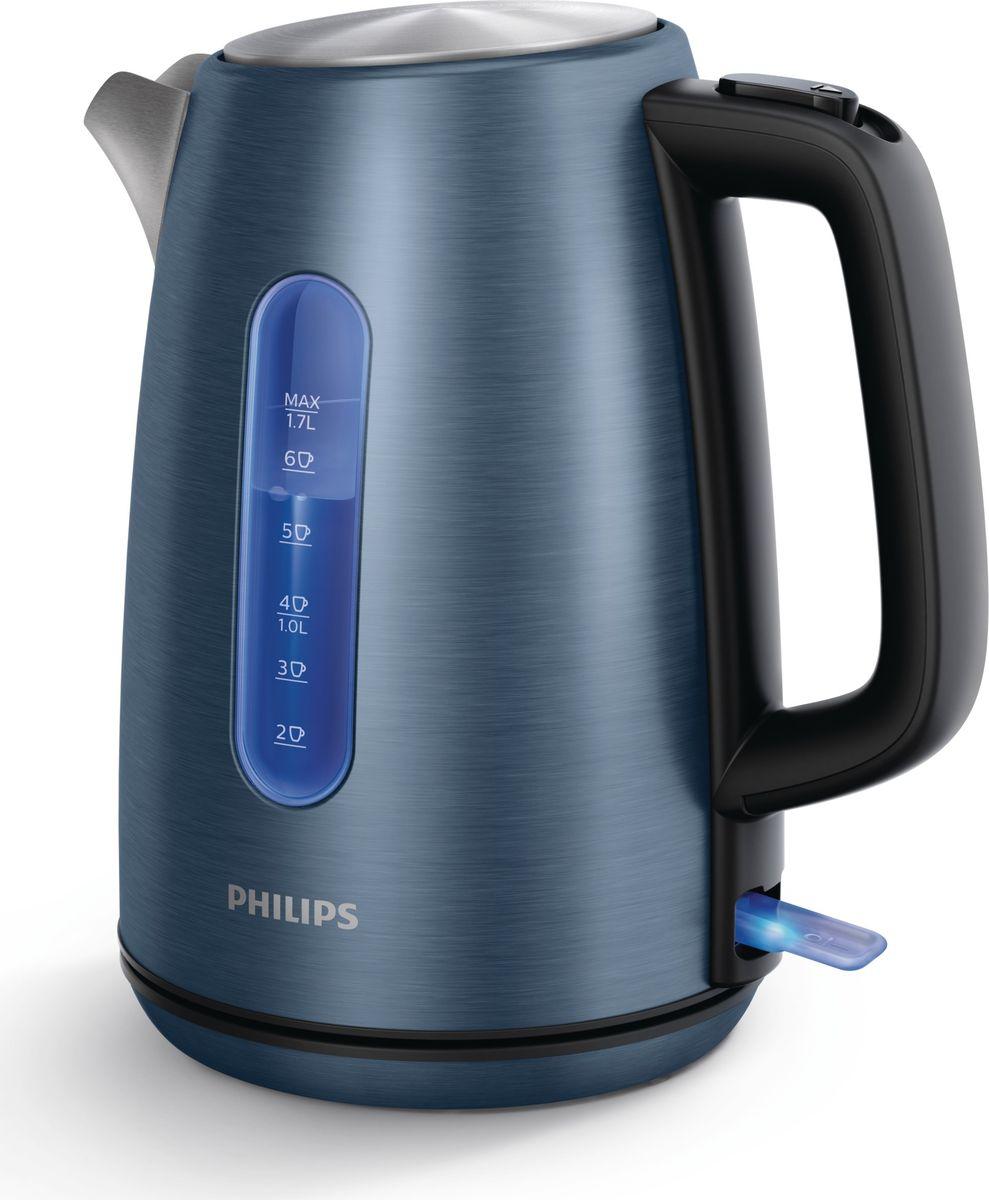 Philips HD9358/11 чайник электрическийHD9358/11Качественная работа в течение долгого времени. Нержавеющая сталь и синяя подсветка. Благодаря 60-летнему опыту Philips в сфере разработки чайников, этот чайник, выполненный из прочной нержавеющей стали, совместимой с пищевыми продуктами, прослужит длительное время. Высочайшая надёжность надолго - даже при частом использовании. Беспроводная подставка с поворотом на 360 ° для удобства использования. Съёмный микрофильтр в носике удерживает все частицы накипи размером > 200 микрон, чтобы вода всегда была чистой.
