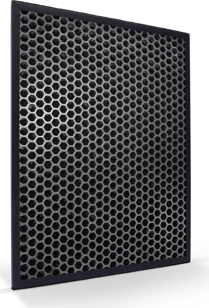 Philips FY3432/10 угольный фильтр для очистителя воздухаFY3432/10Угольный фильтр Philips FY3432/10 с ячеистой структурой обеспечивает эффективное удаление летучих органических соединений и запахов. Ключевые особенностиКачественный результат надолго• Срок службы — 12 месяцевПревосходное очищение• Эффективное сокращение количества летучих органических соединений и запаховВ развернутом виде площадь поглощающей поверхности с активированным углем приблизительно равна площади 20 футбольных полей, что обеспечивает постоянную защиту и длительный срок службы до 12 месяцев.Угольный фильтр с ячеистой структурой предназначен для эффективного удаления различных газов, включая вредные летучие органические соединения и запахи.Для очистителей воздуха Philips AC4002, AC4004