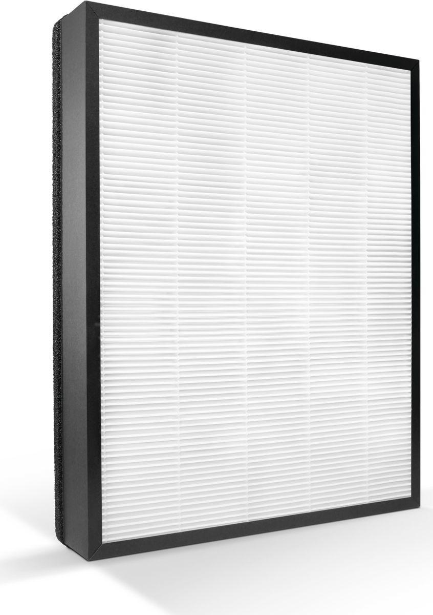 Philips FY3433/10 HEPA фильтр для очистителя воздухаFY3433/10Фильтр FY3433/10 HEPA серии 3 от Philips изготовлен из высококачественных материалов. Он удерживает до 99,97 % частиц размером 0,3 мкм — размер самых распространенных аллергенов, содержащихся в воздухе, вредных частиц, вирусов и бактерий. Высококлассный прочный фильтр с устойчивой структурой обеспечивает качественную очистку воздуха.