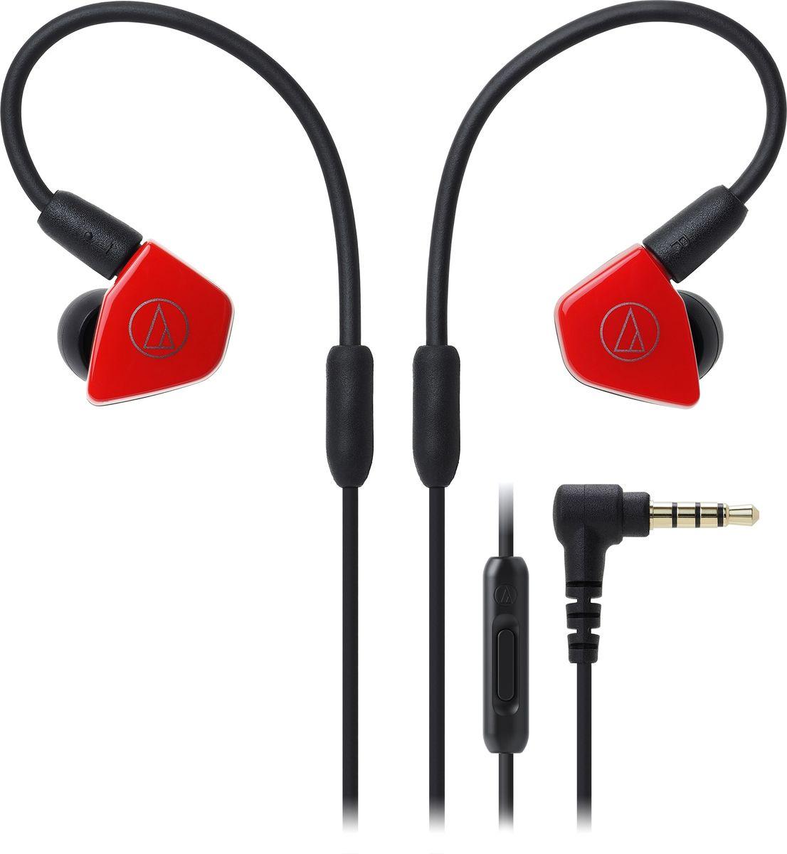 Audio-Technica ATH-LS50iS, Red наушники15119537Внутриканальные наушники Audio-Technica ATH-LS50IS со сдвоенными излучателями обеспечат вам действительно живое концертное звучание, как будто вы находитесь в первом ряду. Сдвоенные драйверы располагаются в одном корпусе и работают синфазно, тем самым уменьшая деформацию мембраны и обеспечивая сбалансированное звучание с мощным басом. Корпус модели выполнен из прочного ABS-пластика, что способствует снижению нежелательных резонансов.ATH-LS50iS оснащены съёмным кабелем с разъёмом A2DC, который снижает переходное затухание и улучшает разделение каналов. Кабель имеет микрофон и пульт управления, с помощью которого вы сможете управлять звонками и воспроизведением музыки. Гибкость кабеля с памятью формы позволит подобрать удобную посадку в ухе, что сказывается на фиксации наушника и комфорте ношения.8,8-мм сдвоенные излучателиСбалансированное звучание с мощным басом и отличной детальностьюГибкий съёмный кабель с памятью формыРазъём кабеля A2DCФункция гарнитурыКорпус из прочного ABS-пластикаАмбушюры четырёх размеров и чехол для хранения в комплекте
