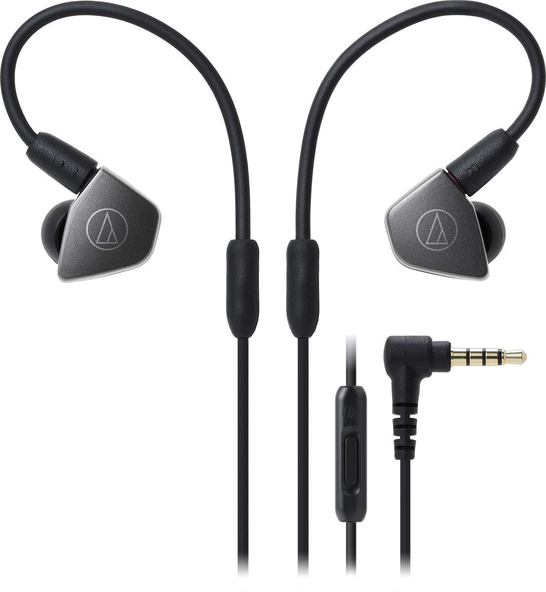 Audio-Technica ATH-LS70iS наушники, Gray15119539Внутриканальные наушники АТН-LS70iS имеют сдвоенные излучатели работающие синфазно и уменьшающие деформацию мембраны, тем самым обеспечивая сбалансированное звучание с мощным басом. А диафрагмы с углеродным покрытием позволяют добиться более чистого и детального звука в широком диапазоне частот. Корпус модели выполнен из прочного ABS-пластика, что способствует снижению нежелательных резонансов.АТН-LS70iS оснащены съемным кабелем с разъемом A2DC, который снижает переходное затухание и улучшает разделение каналов. Кабель имеет микрофон и пульт управления, с помощью которого вы сможете управлять звонками и воспроизведением музыки. Гибкость кабеля с памятью формы позволит подобрать удобную посадку в ухе, что сказывается на фиксации наушника и комфорте ношения.8,8-мм сдвоенные излучатели.Диафрагмы с углеродным покрытием.Сбалансированное звучание с мощным басом и отличной детальностью.Гибкий съемный кабель с памятью формы.Разъем кабеля A2DC.Функция гарнитуры.Корпус из прочного ABS-пластика.Амбушюры четырех размеров и чехол для хранения в комплекте.