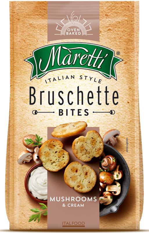 Maretti хлебные ломтики со вкусом грибы со сметаной, 70 г2292Maretti - бренд, сочетающий традиции итальянской выпечки и современный продуктовый формат - хлебный снек. Вдохновленные богатым ремесленным наследием и любовью к хорошим ингредиентам, хлебные ломтики Maretti - удовольствие хорошего вкуса и отличного досуга!Изысканный коктейль ароматных грибов и лёгкого кремового соуса, который придает нотку пикантности восхитительному вкусу испеченных хлебных ломтиков.