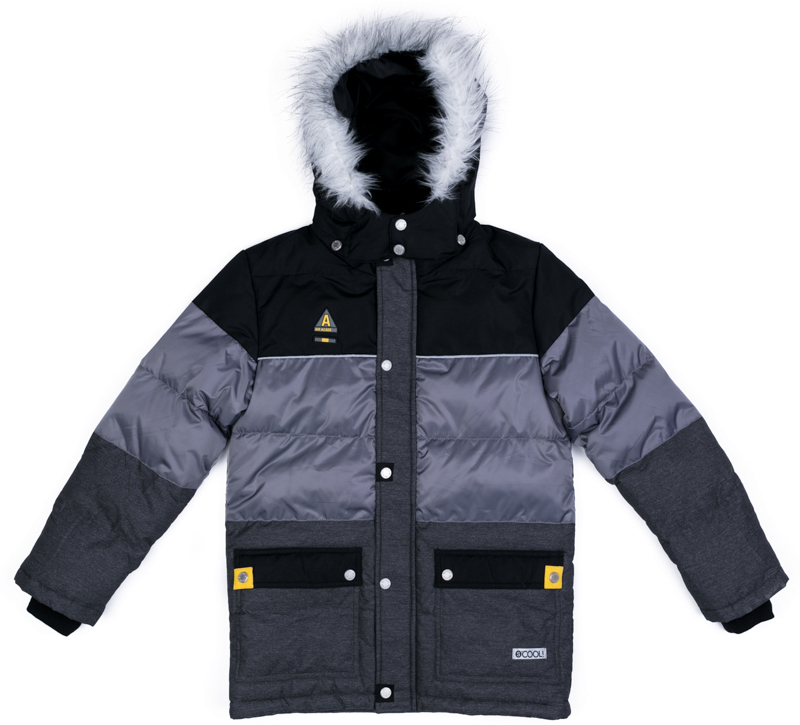 Куртка для мальчика Scool, цвет: серый, черный, зеленый. 373051. Размер 146373051Теплая куртка Scool из ткани с водоотталкивающей пропиткой - отличное решение для холодной погоды. Капюшон на кнопках, при необходимости его можно отстегнуть. Контур капюшона декорирован искусственным мехом. Подкладка из теплого флиса яркого цвета. Модель со снегозащитной юбкой. Низ изделия дополнен регулируемым шнуром-кулиской. Куртка дополнена накладными карманами.