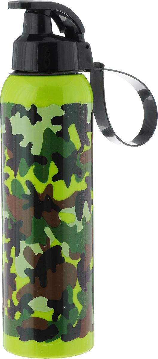 Бутылка для воды Herevin, цвет: зеленый, коричневый, черный, 750 мл. 161405-805161405-805_зеленый, коричневый, черныйВысота бутылки: 26 см.Диаметр основания: 7 см. Диаметр горлышка: 4 см.