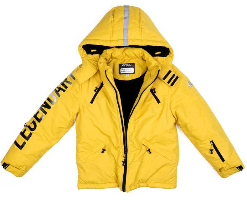 Куртка для мальчика Scool, цвет: желтый. 373052. Размер 134373052Теплая куртка Scool из ткани с водоотталкивающей пропиткой - отличное решение для холодной погоды. Вшивной капюшон дополнен регулируемым шнуром-кулиской. Подкладка из теплого флиса. Модель со снегозащитной юбкой. Низ изделия дополнен регулируемым шнуром-кулиской. Куртка дополнена накладными карманами.