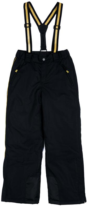 Брюки утепленные для мальчика Scool, цвет: черный. 373054. Размер 164373054Теплые брюки Scool выполнены из водонепроницаемой ткани. Пояс на широкой резинке. Застегивается на застежку-молнию и кнопку. Низ штанин дополнен специальными манжетами на резинках. Брюки на регулируемых лямках. Подкладка из флиса. Модель с двумя втачными карманами.