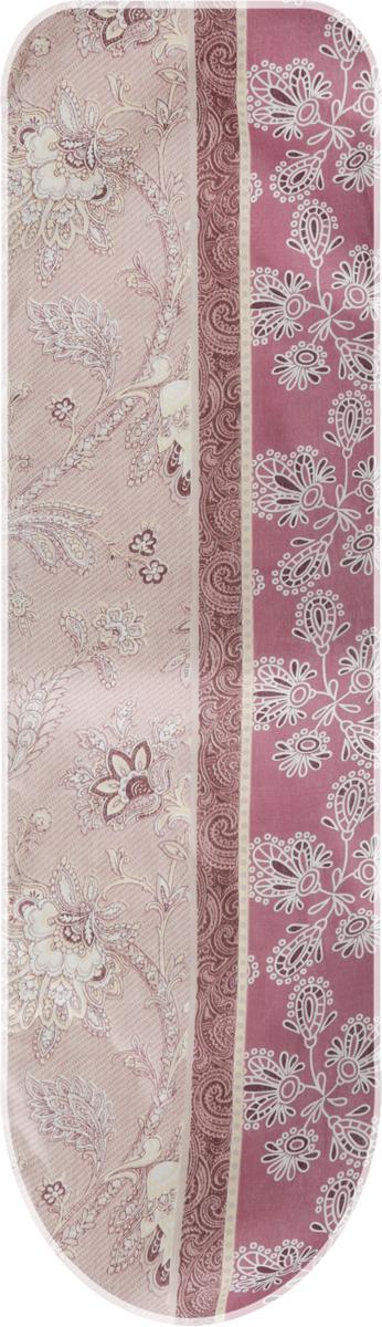Чехол для гладильной доски Eva, с поролоном, цвет: бордовый, розовый, желтый, 120 х 38 смЕ13*_бордовый, розовый, желтый/цветыЧехол для гладильной доски Eva выполнен из хлопчатобумажной ткани, с поролоновой подкладкой.Чехол предназначен для защиты или замены изношенного покрытия гладильной доски. Благодаря удобной системе фиксации легко крепится.Этот качественный чехол обеспечит вам легкое глажение.Размер чехла: 120 x 38 см.Максимальный размер доски: 112 x 32 см.