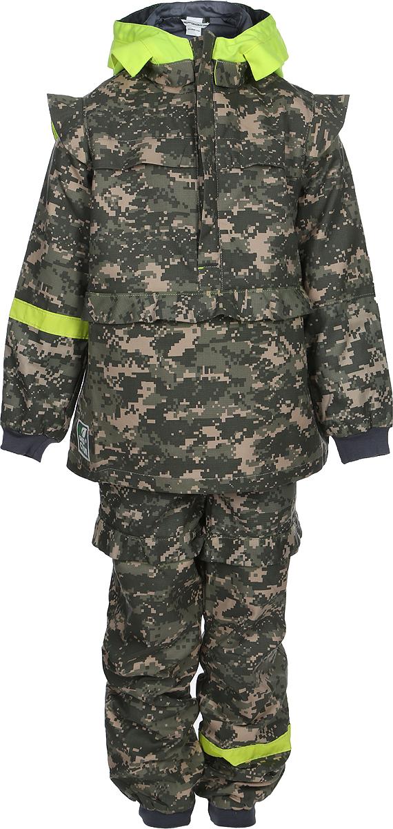 Костюм противоэнцефалитный детский Биостоп, цвет: зеленый камуфляж. 04007060116. Размер 30-60/11604007060116
