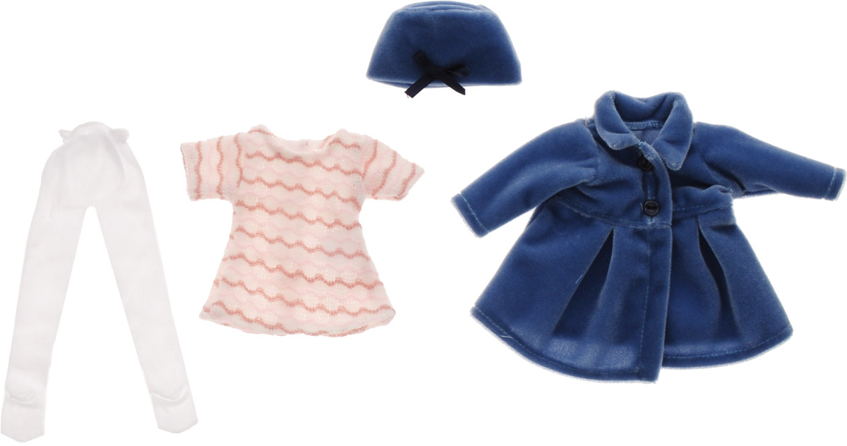 Vestida de Azul Комплект одежды для куклы Карлотты Снегурочка куклы и одежда для кукол vestida de azul паулина рыжая кудряшка лето прованс