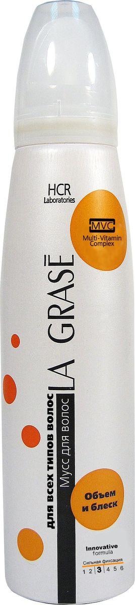 La Grase Мусс для волос Объем и блеск, 150 мл3796
