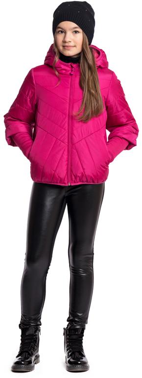 Куртка для девочки Scool, цвет: розовый. 374002. Размер 140374002Утепленная куртка с капюшоном Scool яркого сочного цвета - хорошее решение для периода смены сезонов. Ткань с водоотталкивающей пропиткой. Модель на молнии, специальный карман для фиксации бегунка у горловины изделия не позволит застежке травмировать нежную кожу ребенка. Модель с модными рукавами 3/4. Удлиненные манжеты из плотного трикотажа позволят сохранить тепло. Куртка с вшивными карманами на молнии. Капюшон и низ куртки на мягких резинках. Светоотражатели обеспечат видимость ребенка в темное время суток.