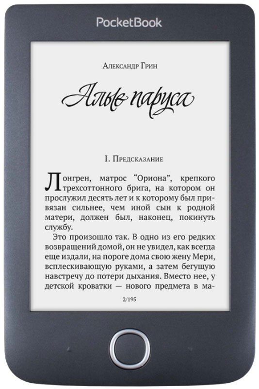 Электронная книга PocketBook 614 Plus, Black