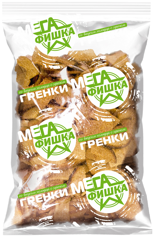 Мега Фишка гренки со вкусом холодца с хреном, 300 г