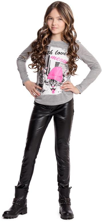 Футболка с длинным рукавом для девочки Scool, цвет: серый. 374025. Размер 158374025Футболка с длинным рукавом Scool - отличное решение для повседневного гардероба. Горловина модели на мягкой трикотажной резинке. В качестве декора использован яркий принт. Свободный крой не сковывает движений ребенка.