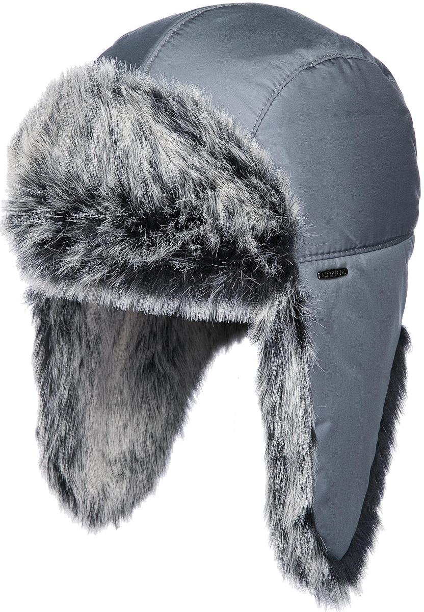 Шапка-ушанка мужская Canoe Polar, цвет: серый. 3440027. Размер 56/593440027Настоящая зимняя мужская шапка-ушанка Canoe Polar - великолепный головной убор на зиму, не восприимчивый к холодам. Такое изделие, несомненно, понравится и поможет создать актуальный образ.В целях достижения оптимальной защиты от холода имеет водоотталкивающий внешний слой, высококачественный теплый искусственный мех и терморегулирующую подкладку из хлопка. Регулируемый ремешок сзади обеспечивает максимально комфортное облегание головы. Модель оформлена небольшим декоративным элементом в виде металлической пластины с названием бренда. Изделие получилось мягким и тёплым.Шапка-ушанка - незаменимый аксессуар на охоте и прогулках на природе. Такой головной убор станет хорошим дополнением к зимнему образу.