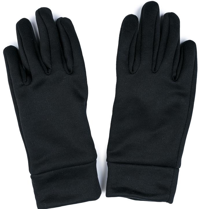 Перчатки для девочки S'cool, цвет: черный. 374042. Размер 16