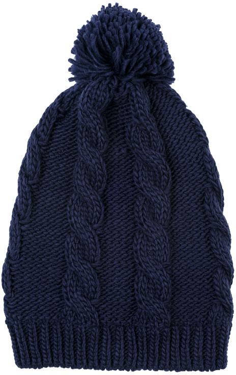 Шапка для девочки Scool, цвет: темно-синий. 374074. Размер 54374074Вязаная шапка Scool на подкладке из теплого флиса - отличное решение для прогулок в холодную погоду. Модель хорошо облегает голову и комфортна при носке. Модель декорирована эффектным помпоном.