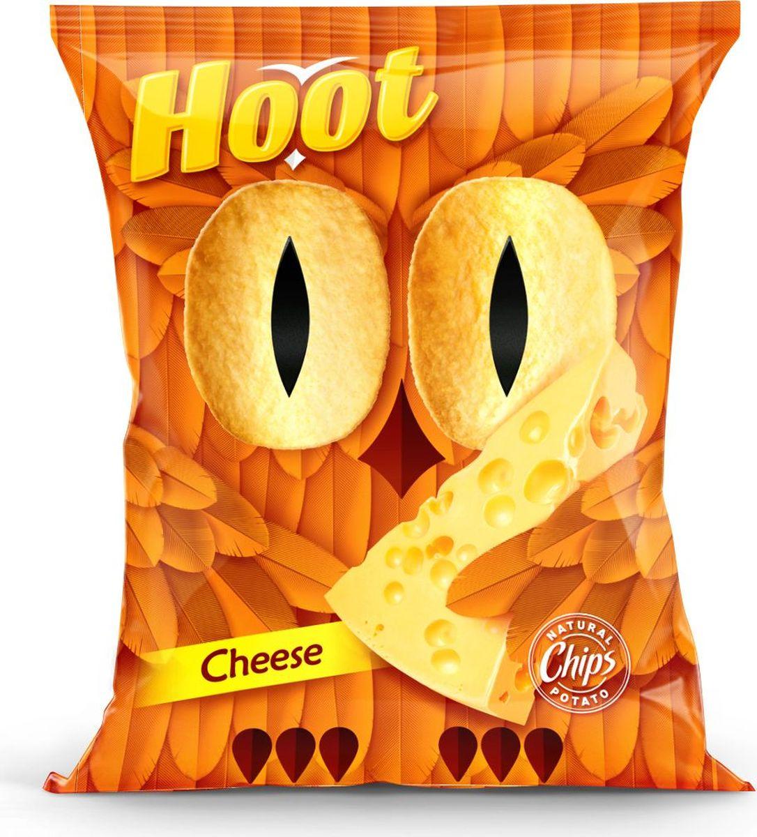 Hoot Чипсы, сыр, 70 г4760156030301Картофельные чипсы со вкусом сыра.