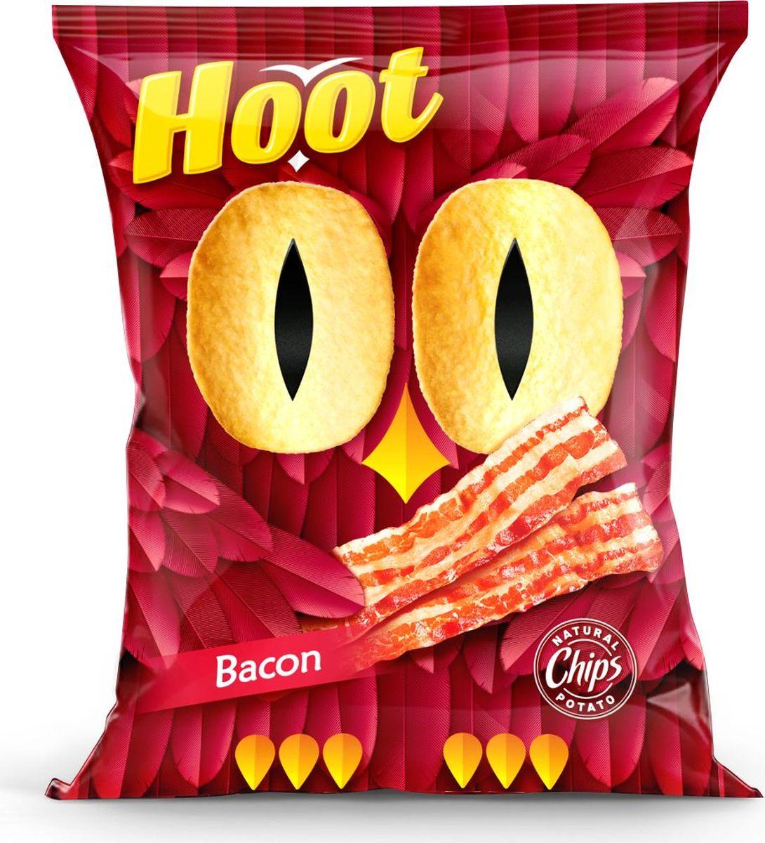 Hoot Чипсы, бекон, 150 г4760156030370Картофельные чипсы со вкусом «Бекона»