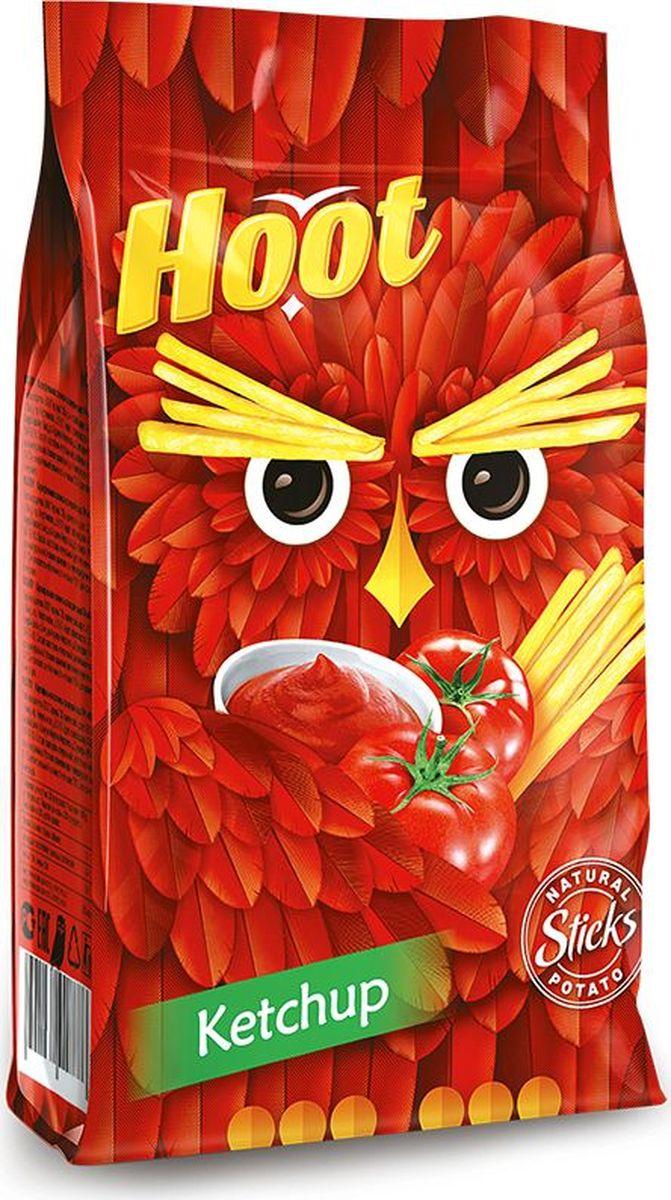 Hoot Картофельная соломка, кетчуп, 80 г4760156030394Картофельная соломка со вкусом кетчупа.