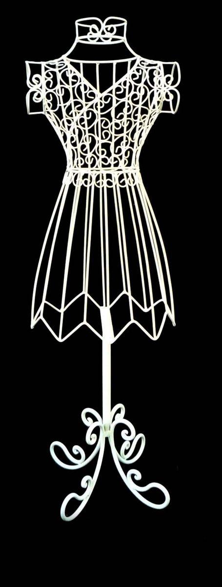 Вешалка Magic Home Леди, цвет: белый, 24 х 15 х 77 см