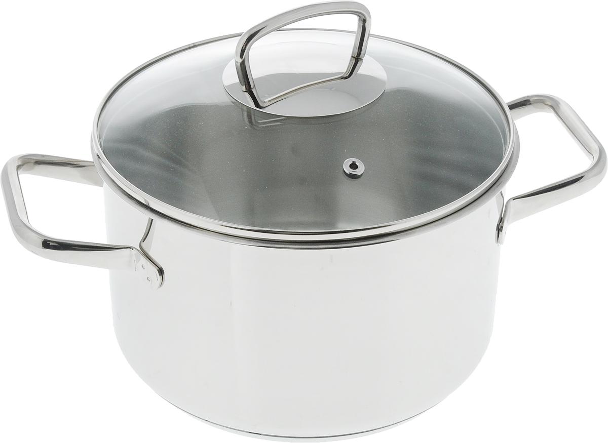 """Кастрюля Metalac Posude """"Aria. Inox"""" изготовлена из высококачественной нержавеющей стали марки 18/10. Внешняя сторона посуды отполирована до зеркального блеска, а внутренняя имеет полировку с эффектом сатина. Посуда предназначена как для традиционного способа приготовления пищи, так и для приготовления без воды/жира или с добавлением минимального количества, чтобы сохранить в продуктах витамины и исключительный вкус.  Изделие имеет капсульное дно с алюминиевой прослойкой, которое способствует быстрому поглощению тепла и равномерному распределению по дну и корпусу, что ускоряет процесс приготовления. Кроме того, такое дно сохраняет тепло приготовленной пищи в посуде от 6 до 8 часов.  Изделие универсально, его можно использовать как для приготовления пищи, так и для сервировки готовых блюд. Крышка выполнена из жаропрочного стекла. Плотно закрывающаяся крышка и специальная форма кромки предотвращают разливание жидкости и обеспечивают максимальную герметизацию. Это способствует сохранению температуры внутри изделия и аромата приготовляемого блюда. Посуда оснащена эргономичными ненагревающимися ручками. Кастрюля подходит для всех видов плит, включая индукционные. Можно мыть в посудомоечной машине. Ширина кастрюли (с учетом ручек): 30 см."""
