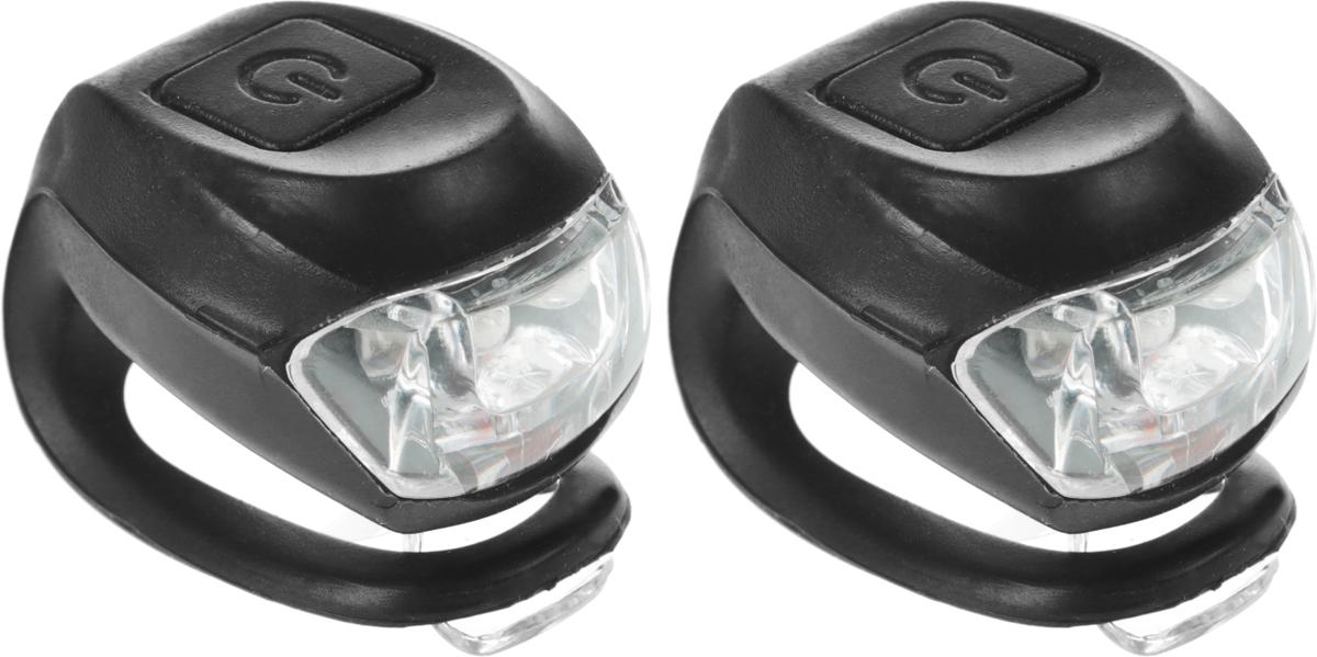 Набор велосипедных фонарей STG JY-267-2B, цвет: черный, 2 штХ66194_черныйКомплект легких и компактных фонарей для велосипеда STG JY-267-2B позволит вам обезопасить себя и других участников дорожного движения в темное время суток или в плохую погоду. Устройства без труда крепятся на руль и подседельный штырь с помощью резинок. Светят ярко, просты в эксплуатации, экономичны и долговечны. Один фонарь светит белым светом, другой - красным. Оба фонаря имеют два режима - непрерывное свечение и мигание.Каждый фонарь работает от 2 батареек типа CR2032 (входят в комплект).