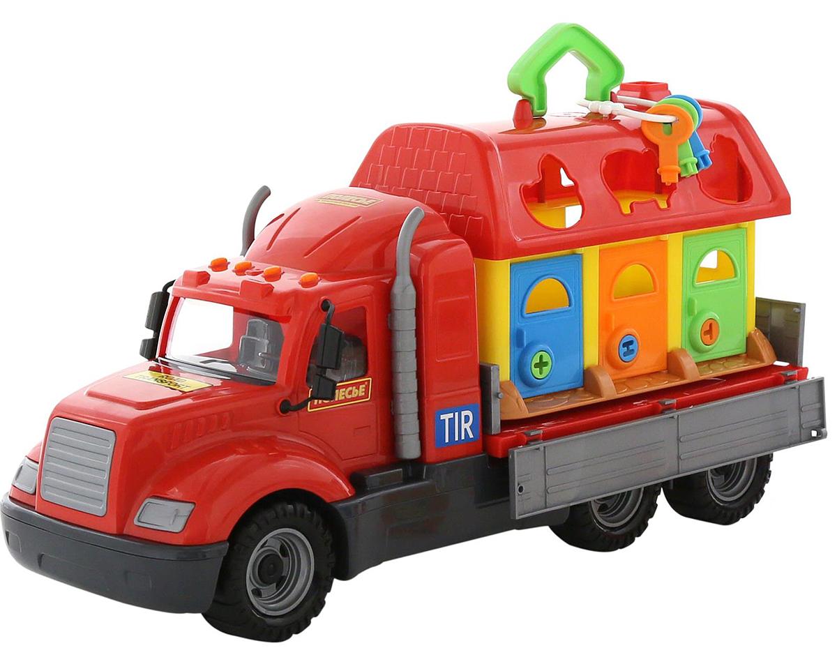 Полесье Грузовик бортовой Майк и домик для зверей 61997 автомобиль пожарный полесье майк в коробке 61973