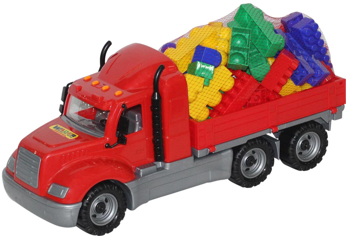 Полесье Грузовик бортовой Майк и конструктор Супер-Микс 60 элементов 55507 полесье грузовик бортовой майк домик для зверей 55521