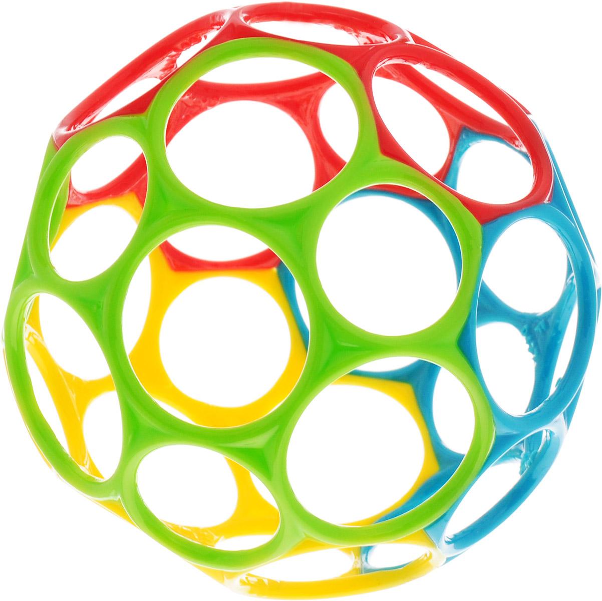 Oball Развивающая игрушка Мячик цвет красный салатовый желтый голубой развивающие игрушки oball мячик на присоске