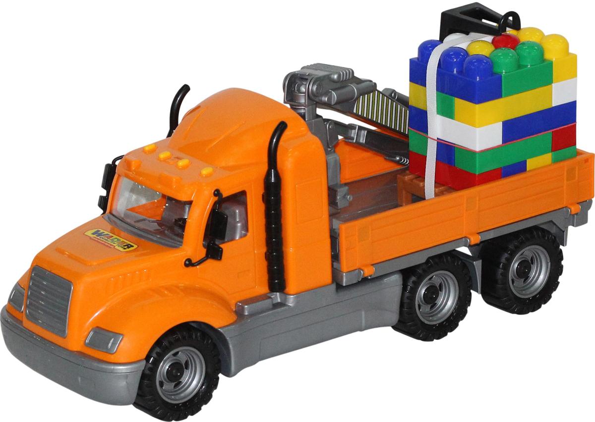 Полесье Грузовик с манипулятором Майк и конструктор Супер-Микс 30 элементов 55590 б у грузовик с манипулятором в кра