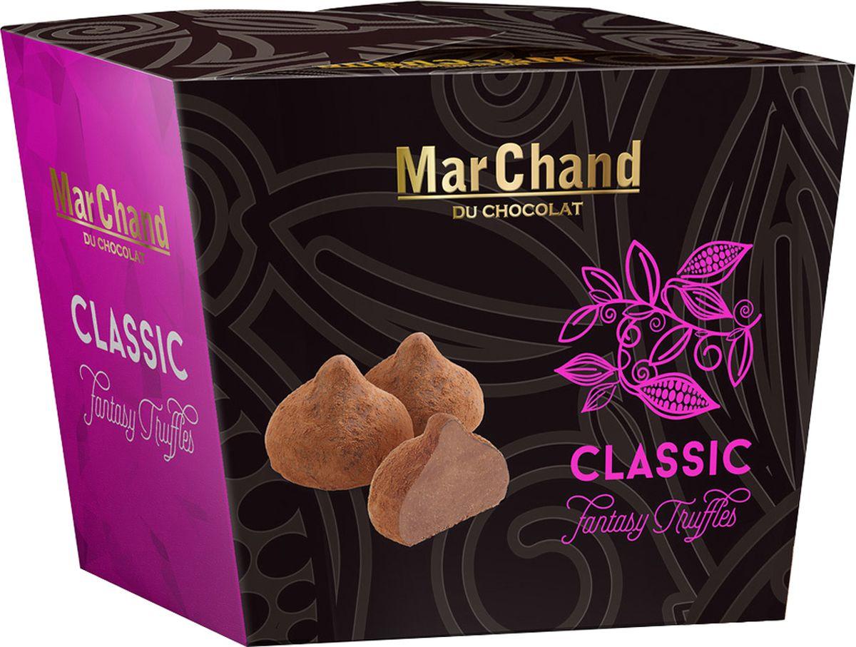 MarChand трюфели шоколадные конфеты в какао классик, 200 г935Классические бельгийские трюфели в стильной подарочной упаковке