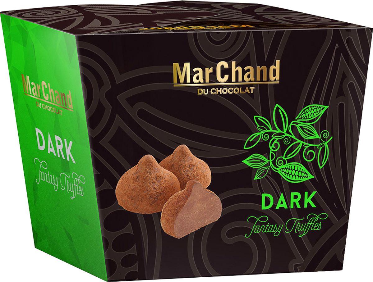 MarChand трюфели шоколадные конфеты темные, 200 г936Бельгийские трюфели с повышенным содержанием какао в стильной подарочной упаковке.