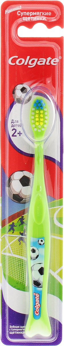 Colgate зубная щетка Для детей 2+, супермягкая, цвет: салатовый4024540_салатовыйЗубная щетка Colgate Для детей 2+ рекомендована для детей от 2 лет и старше с передними молочными и прорезывающимися задними зубами. Закругленная головка поможет бережно очистить даже труднодоступные места, а яркий дизайн превратит скучную процедуру в увлекательную игру. Стоматологи и гигиенисты рекомендуют менять зубную щетку каждые 3 месяца.Товар сертифицирован.