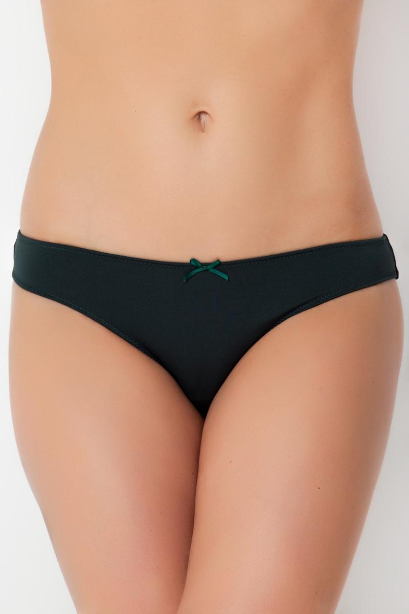 Трусы-слипы женские Vis-A-Vis, цвет: темно-зеленый. DS0589. Размер M (46) пуловер vis a vis цвет оливковый