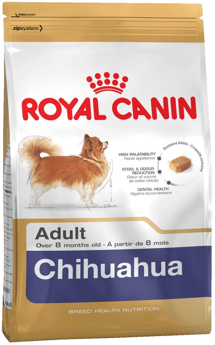 Корм сухой Royal Canin Chihuahua, для собак породы чихуахуа старше 8 месяцев, 3 кг64304ПОЛНОРАЦИОННОЕ ПИТАНИЕ ДЛЯ СОБАК ПОРОДЫ ЧИХУАХУА В ВОЗРАСТЕ С 8 МЕСЯЦЕВ И НА ПРОТЯЖЕНИИ ВСЕЙ ЖИЗНИ. ВЫСОКАЯ ВКУСОВАЯ ПРИВЛЕКАТЕЛЬНОСТЬ Стимулирует аппетит даже у самых разборчивых чихуахуа благодаря отборным натуральным ароматизаторам и специально адаптированным размерам и форме крокетов. Нормализация стулаКорм для чихуахуа снижает объем и ослабляет неприятный запах экскрементов животного. Уменьшение риска возникновения зубного камняБлагодаря хелаторам кальция и специально подобранной текстуре крокетов, которая оказывает чистящее воздействие, данный продукт помогает ограничить образование зубного камня у чихуахуа. Специально для миниатюрных челюстей. Крокеты идеально подходят для крошечных челюстей чихуахуа. Форма крокет - крайне важный фактор нормального развития челюстей собак миниатюрных и декоративных пород. Зачастую с крокетами слишком большого размера собака просто не справляется. Ингредиенты: Рис, пшеница, изолят растительных белков, дегидратированные белки животного происхождения (птица), животные жиры, гидролизат белков животного происхождения (вкусоароматические добавки), растительная клетчатка, минеральные вещества, соевое масло, рыбий жир, фруктоолигосахариды, масло огуречника аптечного, экстракт бархатцев прямостоячих (источник лютеина), экстракт зеленого чая (источник полифенолов), гидролизат из панциря ракообразных (источник глюкозамина), гидролизат из хряща (источник хондроитина). Добавки (в 1 кг): Питательные добавки: Витамин A: 30000 ME, Витамин D3: 800 ME, Железо: 36 мг, Йод: 3,6 мг, Медь: 11 мг, Марганец: 47 мг, Цинк: 140 мг, Ceлeн: 0,09 мг – Технологические добавки: Клиноптилолит осадочного происхождения: 5 г, Триполифосфат натрия: 3,5 г – Консерванты – Антиокислители