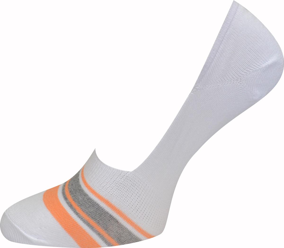 Подследники женские Master Socks, цвет: белый, оранжевый. 55830. Размер 2555830Удобные подследники Master Socks, изготовленные из высококачественного комбинированного материала с хлопковой основой, очень мягкие и приятные на ощупь, позволяют коже дышать. Практичные и комфортные подследники великолепно подойдут к любой вашей обуви.