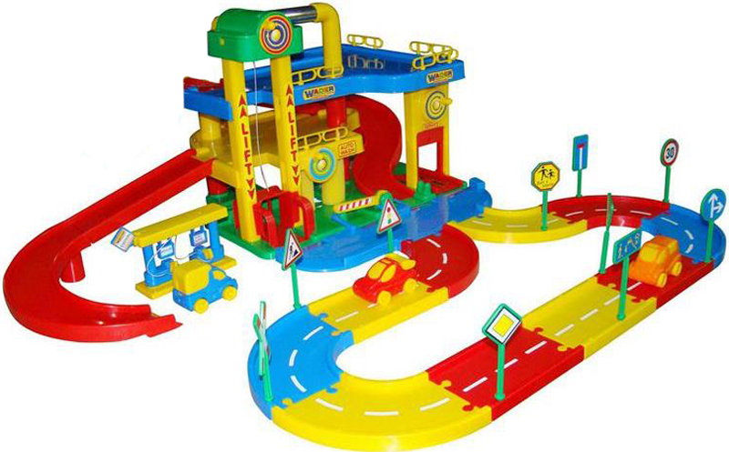 Полесье Игровой набор Гараж №1 с дорогой полесье игровой набор гараж 1 премиум с автомобилями