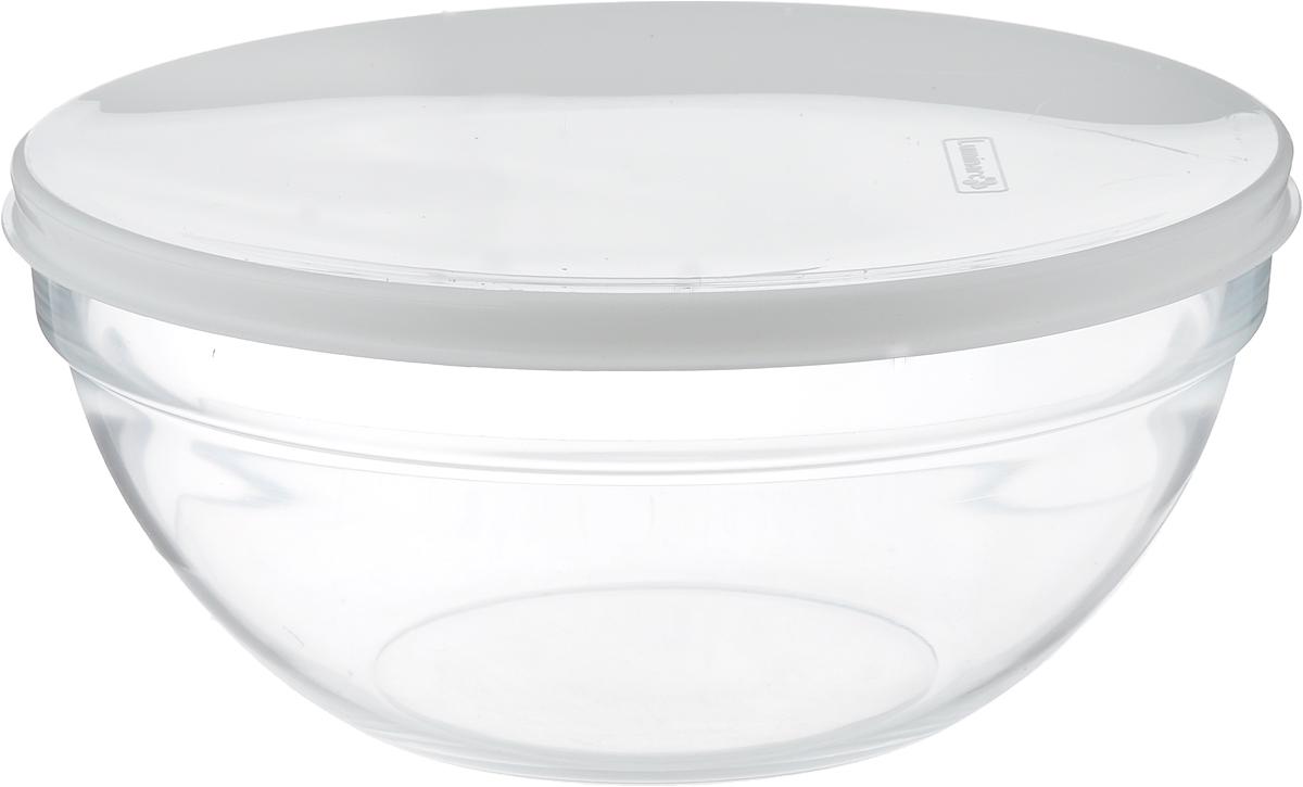 Салатник Luminarc Empilable, с крышкой, диаметр 23 смH1154Салатник Luminarc Empilable изготовлен из ударопрочного стекла. Изделие оснащено пластиковой крышкой, оно прекрасно подойдет для подачи различных блюд: закусок, салатов или фруктов. Бренд Luminarc - это один из лидеров мирового рынка по производству посуды и товаров для дома. В основе процесса изготовления лежит высококачественное сырье, а также строгий контроль качества. Товары для дома Luminarc уважают и ценят во всем мире, а многие эксперты считают данного производителя эталоном совершенства.Диаметр салатника (по верхнему краю): 23 см.Высота стенки: 9,5 см.