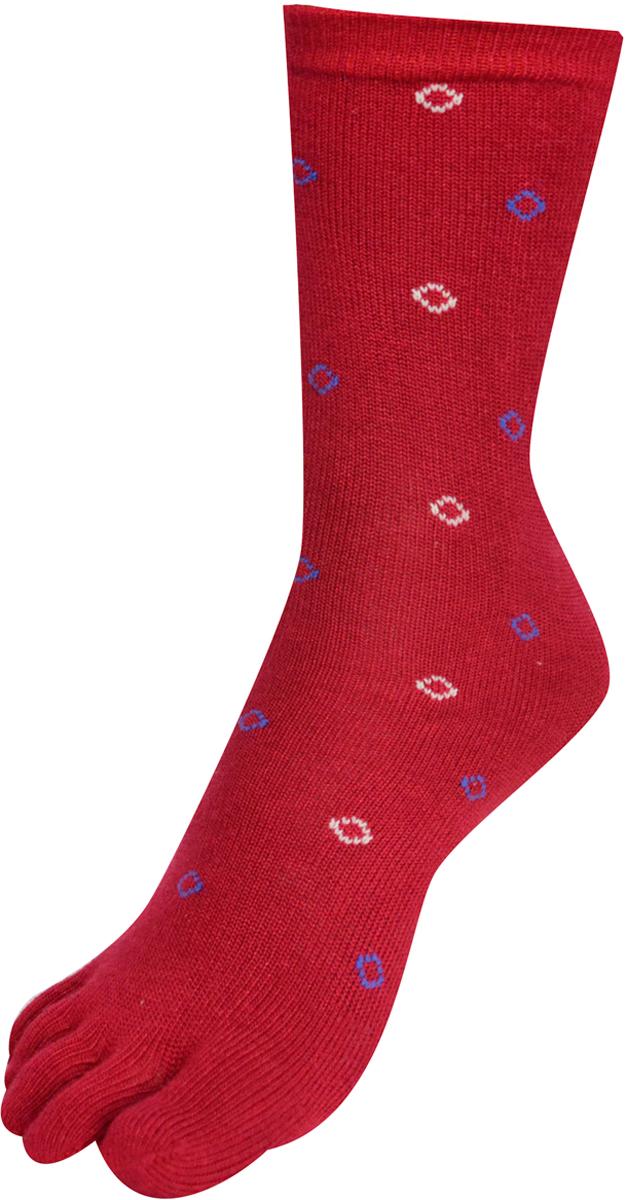 Носки женские Master Socks, цвет: бордовый. 85681. Размер 23/2585681Удобные носки Master Socks с пальцами, изготовленные из высококачественного комбинированного материала с бамбуковой основой, очень мягкие и приятные на ощупь, позволяют коже дышать.Эластичная резинка плотно облегает ногу, не сдавливая ее, обеспечивая комфорт и удобство. Носки с паголенком классической длины. Практичные и комфортные носки великолепно подойдут к любой вашей обуви.