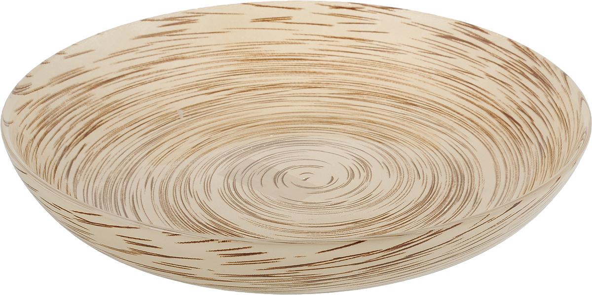 Тарелка глубокая Luminarc Stonemania, цвет: светло-коричневый, диаметр 20 см салатник luminarc stonemania  цвет