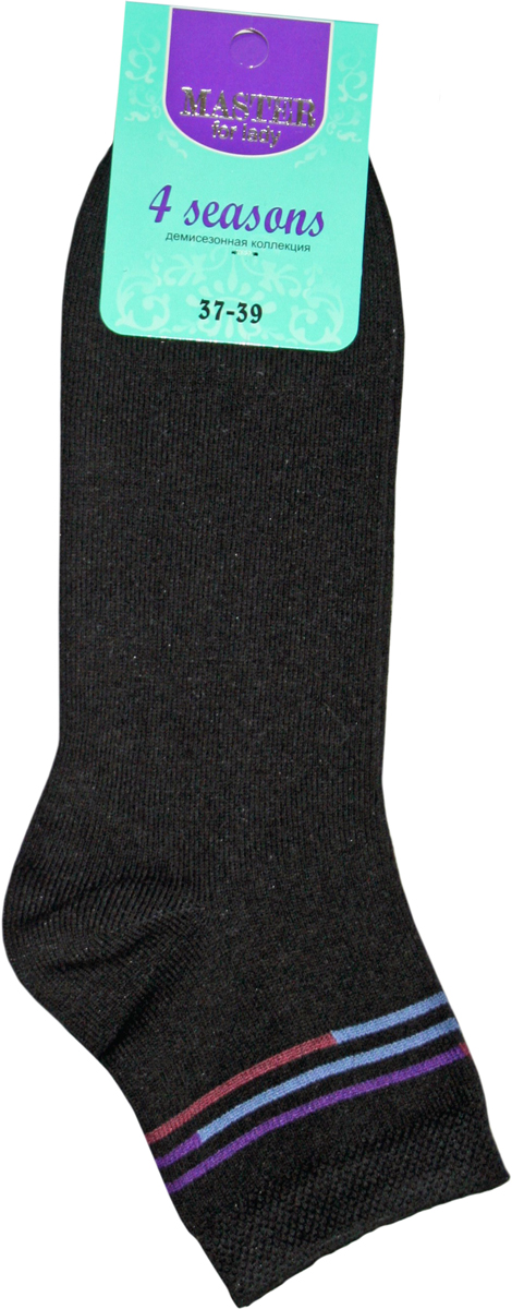 Носки женские Master Socks, цвет: черный. 55902. Размер 2355902Удобные носки Master Socks, изготовленные из высококачественного комбинированного материала с хлопковой основой, очень мягкие и приятные на ощупь, позволяют коже дышать.Эластичная резинка плотно облегает ногу, не сдавливая ее, обеспечивая комфорт и удобство. Носки с паголенком классической длины. Практичные и комфортные носки великолепно подойдут к любой вашей обуви.