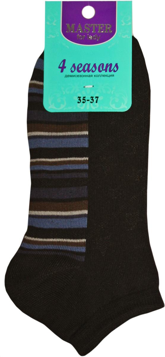 Носки женские Master Socks, цвет: черный. 55910. Размер 2555910Удобные носки Master Socks, изготовленные из высококачественного комбинированного материала с хлопковой основой, очень мягкие и приятные на ощупь, позволяют коже дышать.Эластичная резинка плотно облегает ногу, не сдавливая ее, обеспечивая комфорт и удобство. Носки с укороченным паголенком оформлены принтом в полоску. Практичные и комфортные носки великолепно подойдут к любой вашей обуви.