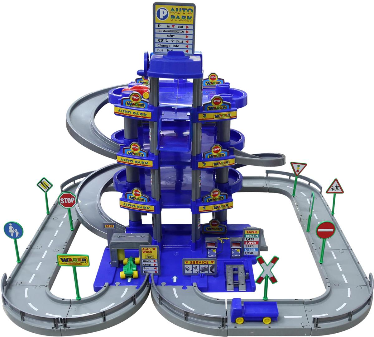 Полесье Парковка 4 уровня с дорогой и автомобилями цвет синий - Транспорт, машинки
